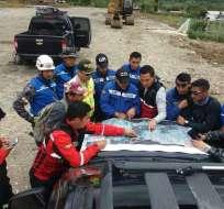 Las personas se habían extraviado desde hace 10 días, según ECU 911. Foto: Policía Nacional