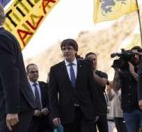 Mandatario debe explicar si declaró o no la independencia de Cataluña. Foto: AFP