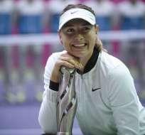 María Sharapova, de 30 años, obtuvo su título número 36 en el circuito WTA.