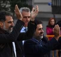 Jueza dictó prisión contra Jordi Sánchez Picanyol y Jordi Cuixart Navarro. Foto: AFP