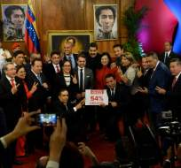 La sesión de juramentación se postergó para el miércoles 18 de octubre de 2017. Foto: AFP