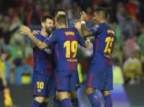El 'Barca' terminó con un jugador menos por la expulsión de Gerard Piqué. Foto: AFP