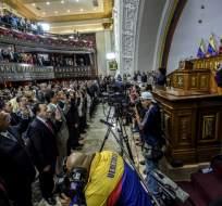 """El diputado opositor Enrique Márquez denunció en la noche que el CNE """"forjó actas"""". Foto: AFP"""
