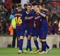 El FC Barcelona sigue líder de la Liga Española con 25 puntos. Foto: AFP