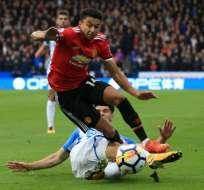 El Manchester United quedó a 5 puntos del Manchester City en la Premier League. Foto: AFP