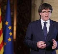 Independentistas catalanes preparan respuesta a la intervención de Rajoy. Foto: AFP
