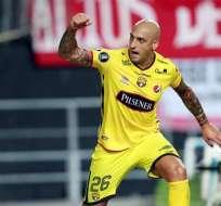 El argentino Ariel Nahuelpan sería el nueve de Barcelona para recibir a Gremio.
