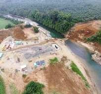 Construcción de puente en Los Ríos. Foto: El Ciudadano