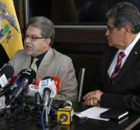 El Dr. Byron Ojeda Gerente General de Petroecuador informa sobre su regreso de EEUU después de reunirse con Petrochina y Unipec. Foto: API