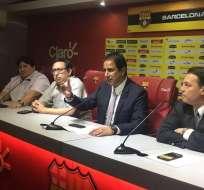 El directivo de Barcelona es optimista de lograr su tercera final de la Libertadores.