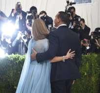 En esta foto del 1 de mayo del 2017, Jennifer López y Alex Rodríguez asisten a la gala del vestuario en el Museo Metropolitano de Arte en Nueva York. Foto: AP