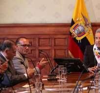 Reunión del Presidente de la República del Ecuador en Quito. Foto: Archivo API