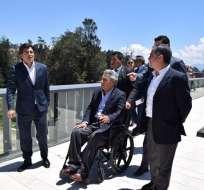 El presidente Lenín Moreno recorre Cuenca en sus fiestas. Foto: Presidencia Ecuador