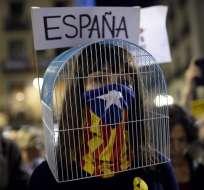 En una semana, Cataluña vivió una proclamación de independencia sin ningún efecto.Foto: AFP