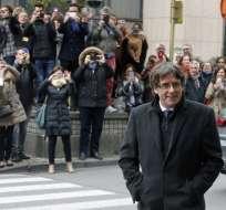 BÉLGICA.- Carles Puigdemont y los cuatro miembros de su gobierno deberán comparecer ante un juez de instrucción belga. Foto: AFP