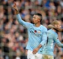 Gabriel Jesus marcó el tercer gol de los 'citizens'. Foto: AFP