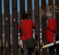 México y Estados Unidos tienen una larga frontera de 3.000 km. Foto: AFP