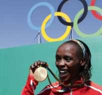 Jemima Sumgong se perderá el Mundial de atletismo 2019 y los Juegos Olímpicos 2020. Foto: AFP