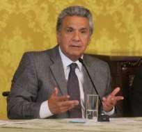 """""""Como no soy amigo de las reelecciones indefinidas, en su momento dije no más. En la práctica, dije no"""", afirmó Moreno. Foto: Presidencia"""