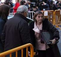 La presidenta del Parlamento catalán, la independentista Carme Forcadell, ingresará este jueves en prisión hasta que pague una fianza de 150.000 euros. Foto: AFP