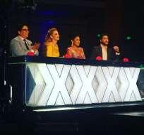 Los cuatro integrantes aseguraron estar felices por el gran nivel de las presentaciones. Foto: Ecuavisa.com