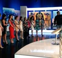 Las candidatas a Reina de Quito realizaron un recorrido por las instalaciones de Ecuavisa Quito.