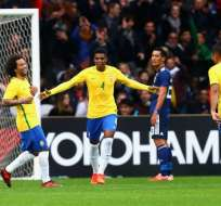 Brasil goleó a Japón en cotejo amistoso disputado en Lille, norte de Francia.