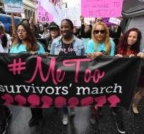 Los manifestantes se reunieron frente al icónico Dolby Theatre en Hollywood. Foto: Twitter