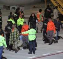Ecuatorianos privados de libertad fueron repatriados de EEUU. Foto: Cancillería Ecuador