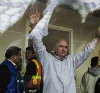 Ledezma escapó hacia Colombia, desde donde partió a España. Foto: AFP
