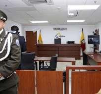 QUITO, Ecuador.- Juez Geovanny Freire explicó que Fiscalía no demostró que exista perjuicio para el Estado. Foto: API.