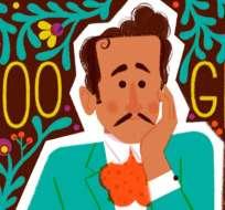Así luce el doodle que Google creó en honor al artista mexicano, conocido como el 'Idolo de México'. Foto: Captura Pantalla.