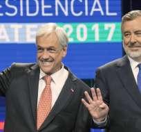 Con el 98,95% de actas escrutadas, Piñera obtuvo el 36,64% y Guillier, 22,69% de votos. Foto: Tomado de T13Cl.