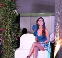 Carmen Villalobos participó en el evento Ecuador Trends junto a Roberto Manrique, su compañeros en Sin Senos Sí Hay Paraíso. Foto: Instagram Carmen Villalobos.