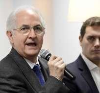 Antonio Ledezma opositor venezolano en España    FOTO:AFP