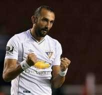 Hernán Barcos se encuentra en negociaciones con Liga de Quito para continuar en el 'Albo'.