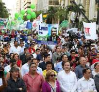 Entre los que reconocen a la Directiva de AP, encabezada por Moreno, consta el dirigente de la Central Unitaria de Trabajadores. Foto: Presidencia Archivo