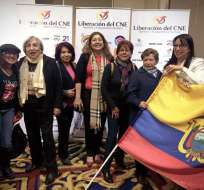 """En el evento denominado """"Liberación del CNE"""" se expuso la inquietud por la permanencia de miembros del CNE. Foto: Twitter @viandrade78."""