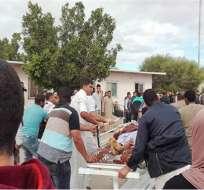 Los atacantes colocaron artefactos explosivos de fabricación casera alrededor del templo. Foto: Agencias