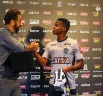 El ecuatoriano Juan Cazares cumplió 100 partidos con la camiseta del Atlético Mineiro.