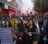 En Quito y Guayaquil se desarrollaron manifestaciones para recordar este día. Foto: API