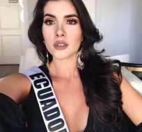 Esta noche la reina de belleza compite en Las Vegas en el Miss Universo. Foto: Instagram Daniela Cepeda