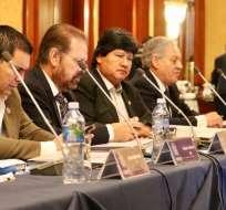 Los dirigentes sudamericanos también estuvieron la inauguración del ITSF. Foto: Tomada de la cuenta Twitter @FEFecuador