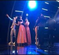Odalys Nicole y Juventud Bolivarense pasaron a la final, mientras que las hermanas Pico se despidieron del programa. Foto: Ecuavisa Show