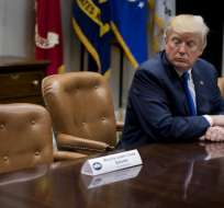 El Presidente Donald Trump publicó un tuit donde señaló que no aceptaba presiones de oposición. Foto:AFP