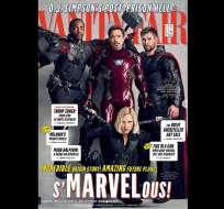 Los protagonistas de Avengers: Infinity War en la portada de Vanity Fair. Foto:Marvel