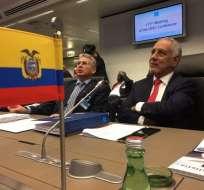 VIENA, Austria.- El ministro Carlos Pérez durante la CLXXIII reunión de la OPEP. Foto: Twitter Sergio Rodrigo Telesur.