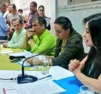 """QUITO, Ecuador.- El exgobernante descartó la posibilidad de volver a residir en Ecuador """"en próximos años"""". Foto: Twitter Alianza PAIS."""
