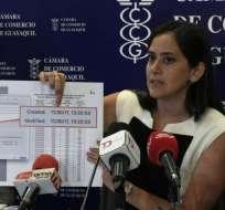 GUAYAQUIL, Ecuador.- La entidad continuará con las acciones legales que logren la derogación de la tasa. Foto: Twitter CCG.