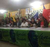 Comités de la Revolución Ciudadana de Pichincha respaldan a Lenín Moreno. Foto: Twitter @PublicaFM